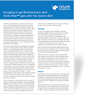 Imaging in-gel fluorescence and Stain-Free™ gels with the Azure c600