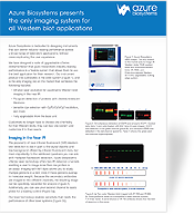 Azure Biosystems presents the only imaging system for all Western blot applications